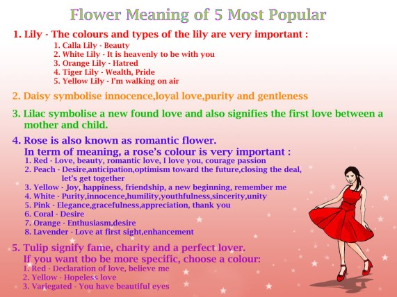 Meaning of a flower